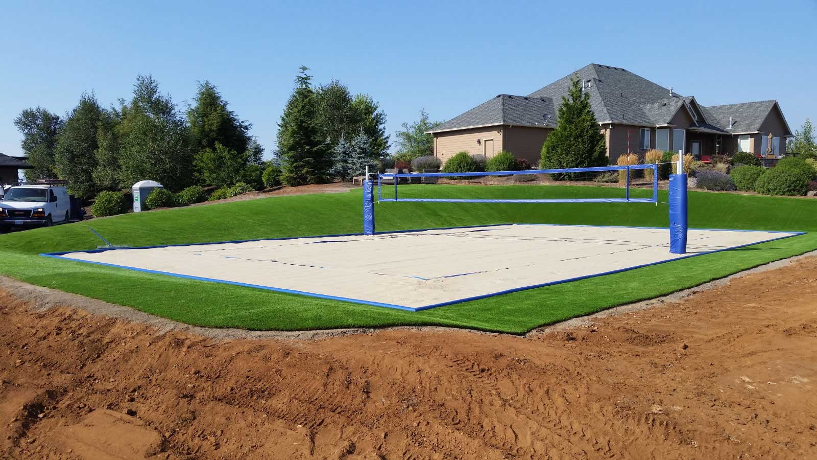 Artificial Turf Home Court With Edgeguard