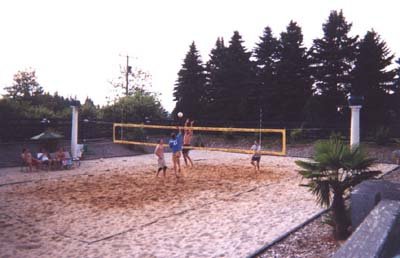 how to build a beach volleyball court