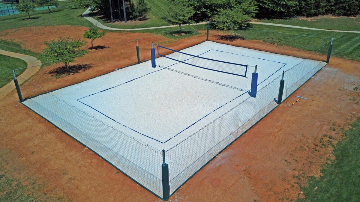 How to construct a volleyball court for How to build a sport court