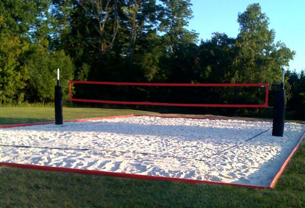 How to construct a volleyball court for How to build your own basketball court