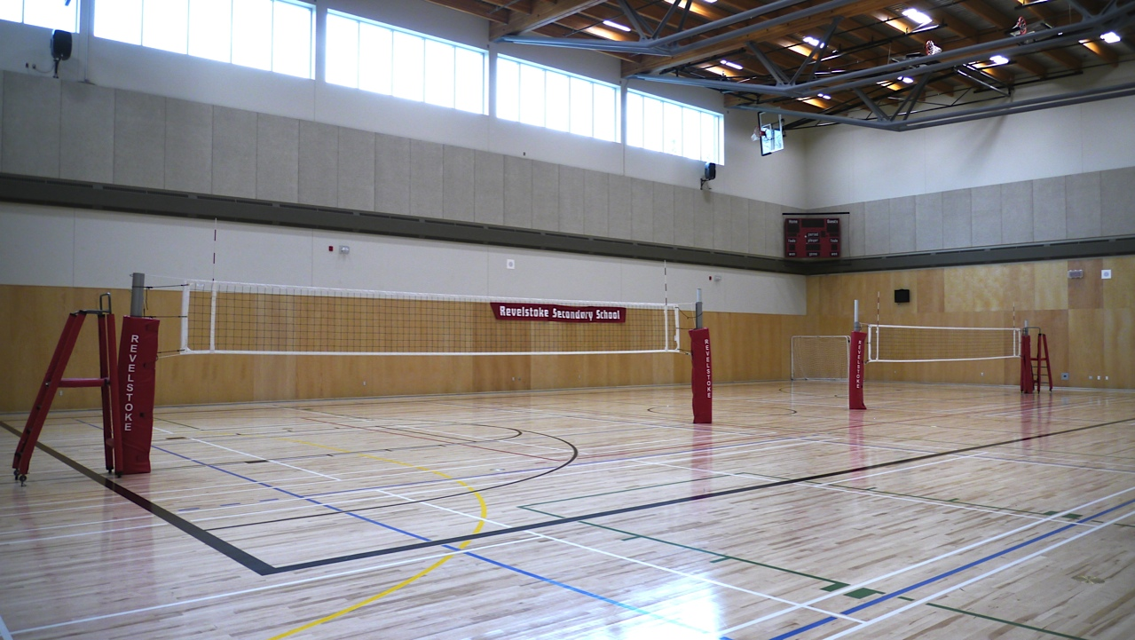 Indoor volleyball court the image kid for Indoor sport court cost
