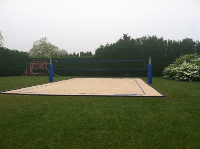 Backyard Sand Volleyball Court : sandvolleyballcourtwithedgeguardjpg